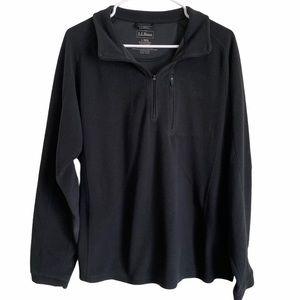 Men's LL BEAN lightweight black fleece Large